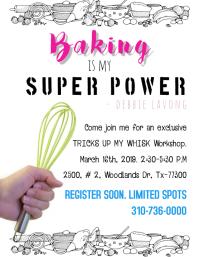 Baking Class Workshop Flyer Template