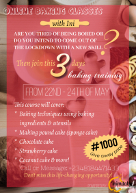 baking classes A2 template