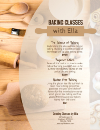 baking classes instruction Flyer