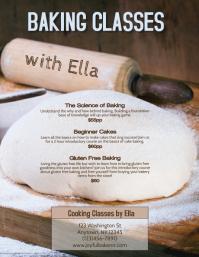 Baking Class Bread Making Instruction Flyer Template
