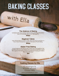 Baking Class Bread Making Instruction Flyer Template