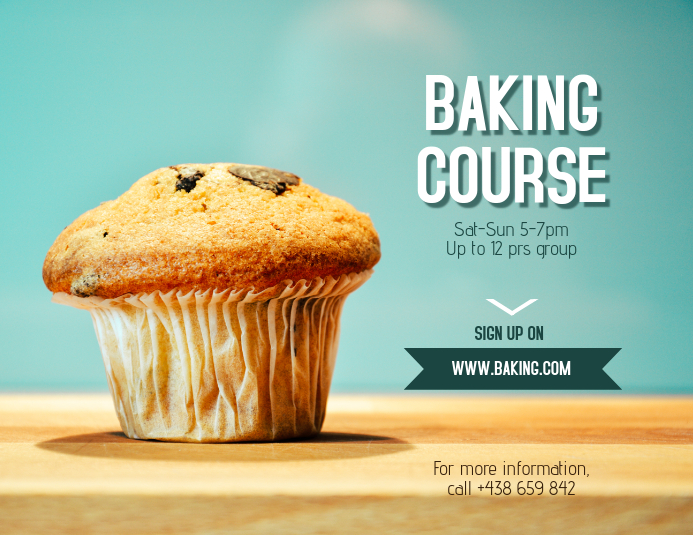 Baking Course Poster / Banner Volante (Carta US) template