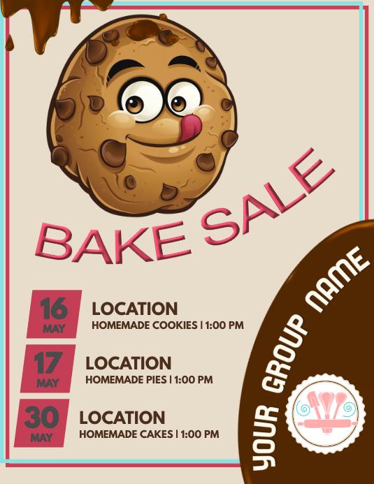 Baking Løbeseddel (US Letter) template