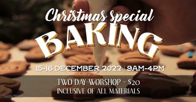 Baking workshop event template