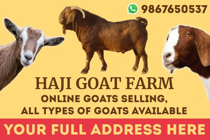 Bakra Eid Online Order Template Banier 4'×6'