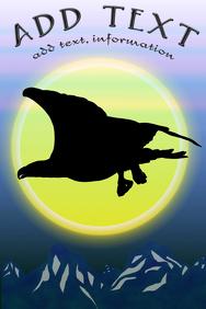 bald eagle bird - silhouette wilderness - mountains template