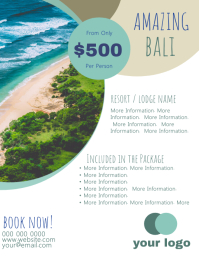 Bali Travel Flyer Template