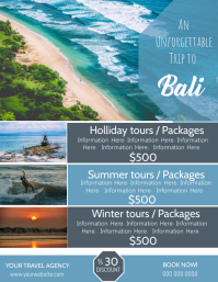 Bali Travel Poster Flyer Template