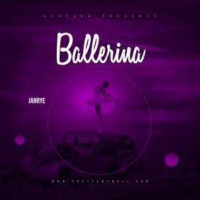 Ballerina Mixtape Music CD Cover Template