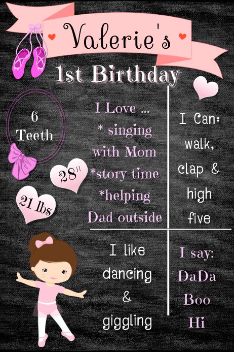 Ballet Birthday Poster