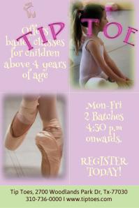 Ballet class flyer/poster template