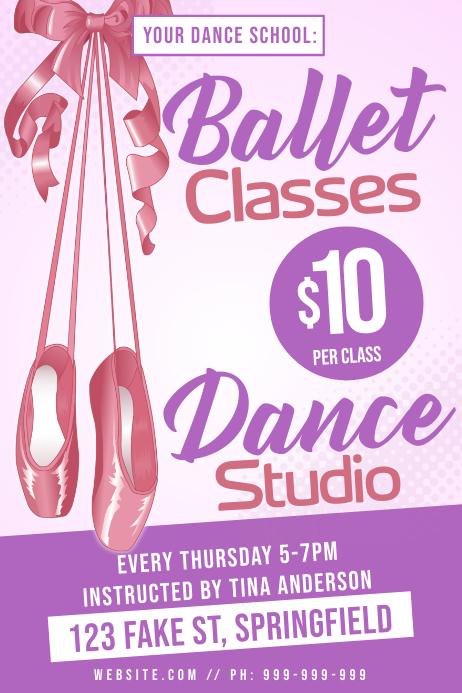 Ballet Classes Poster