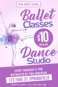 Ballet Classes Poster template