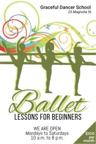 ballet classes poster template