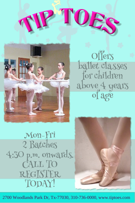 Ballet Dance Poster/ Flyer Template