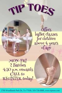 Ballet Dance Digital Poster/ Flyer Template Affiche