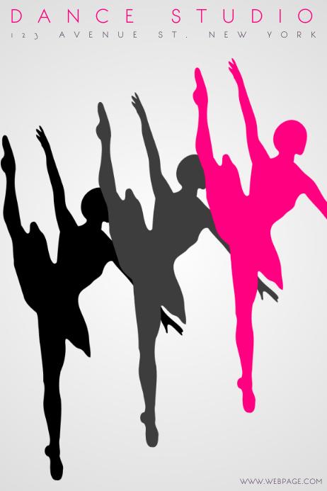 Ballet Dance Studio Flyer Template | PosterMyWall
