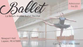 Ballet Event Advertisement Facebook Cover Video