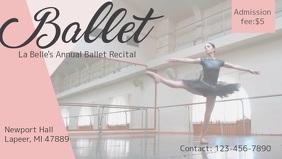 Ballet Event Advertisement Facebook Cover Video