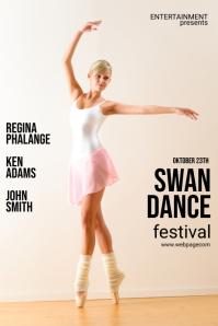 Ballet Event Flyer Template for Ballet