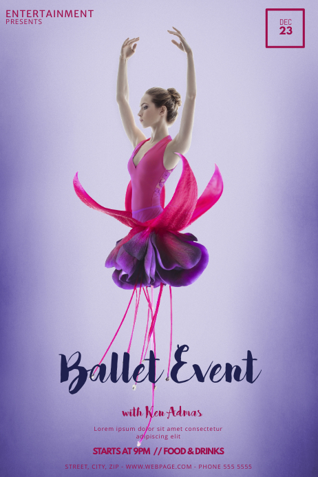 Ballet Event Flyer Template for Ballet | PosterMyWall