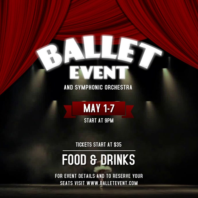 Ballet Event Instagram Video Square (1:1) template