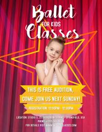 Ballet for Kids Classes Flyer