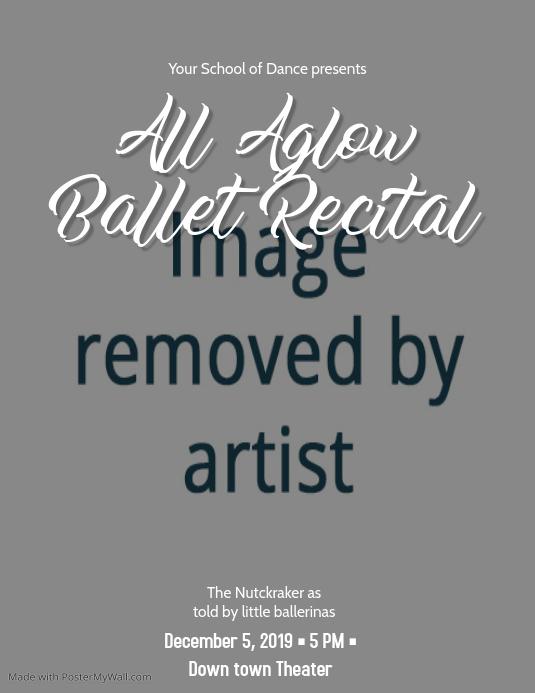 Ballet Recital Event Flyer Template