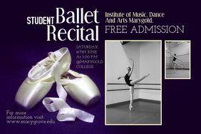 Ballet Recital Poster Template