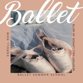 Ballet School Instagram Ad Sample