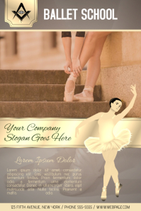 ballet school lessons flyer template