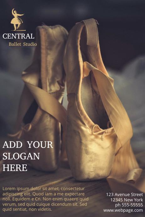 Ballet Studio Flyer Template