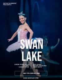 ballet theatre musical flyer template