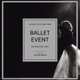 Ballet Video Event Instagram design