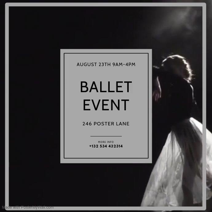 Ballet Video Event Instagram design