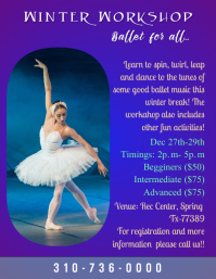 Ballet winter workshop flyer