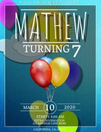 BALLOON BIRTHDAY Flyer DIGITAL Template