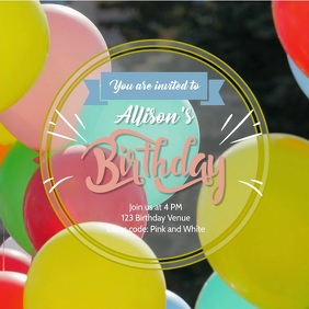 Balloons birthday video 2