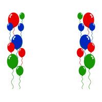 Balloons Logo template