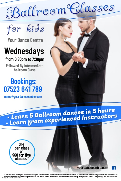 Ballroom classes poster