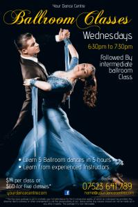 Ballroom Classes Flyer Cartaz template
