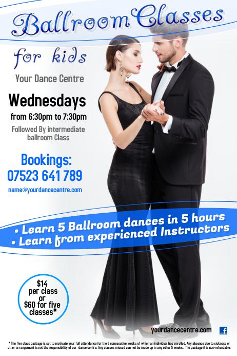 Ballroom classes poster