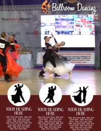 Ballroom Dance Class Video ad Flyer Template