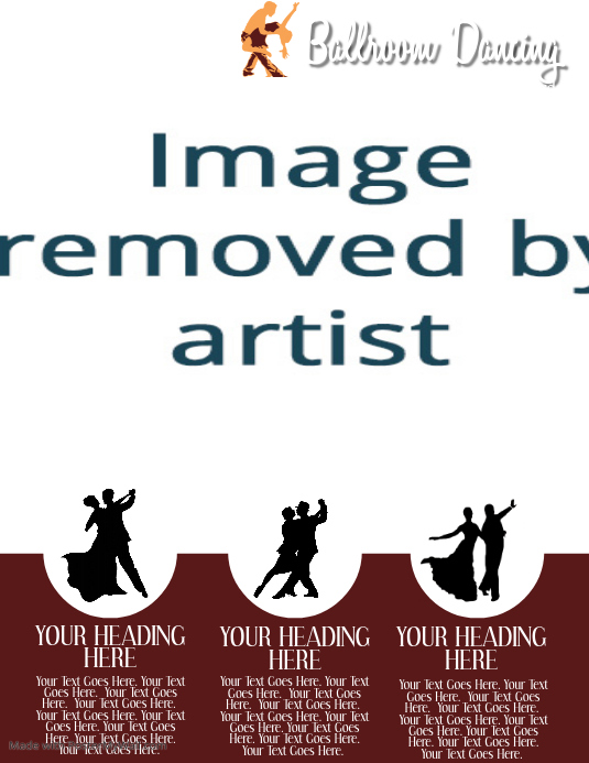 Ballroom Dance Classes ad Flyer Template