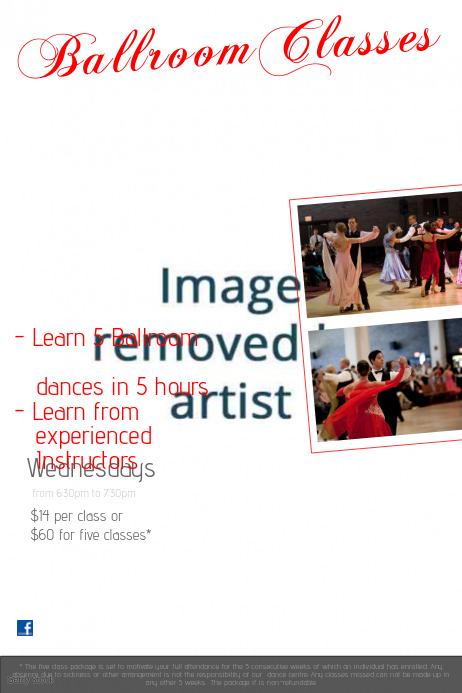 Ballroom Dance Poster Template