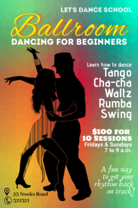 Ballroom dancing classes template