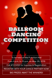 Ballroom dancing competition template
