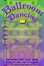 Ballroom dancing in green and purple