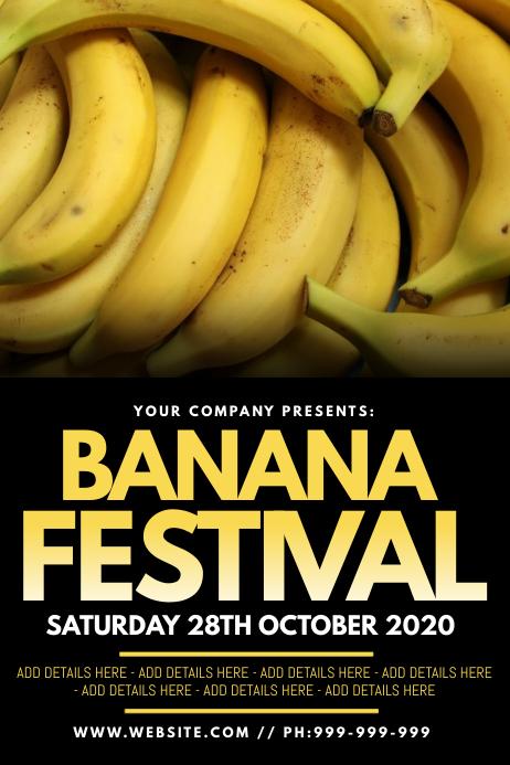 Banana Festival Poster template