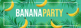 Banana Party Aesthetic Tumblr Header Design template